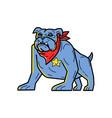 sheriff bulldog standing guard mono line art vector image vector image