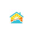shine house sun paradise logo vector image vector image