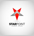 simple star point logo design vector image
