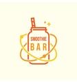 Smoothie bar logo vector image vector image