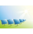 Solar power Solar panels in field vector image