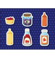 Stickers of foods vector image