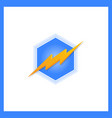 storm 3d bolt logo template hexa vector image vector image