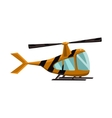 Stripy Helicopter Toy Aircraft Icon vector image vector image