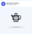 teapot icon filled flat sign solid vector image vector image