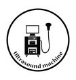 Ultrasound diagnostic machine icon vector image vector image