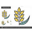 wheat ears line icon vector image vector image