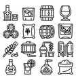 whisky icons set outline style vector image