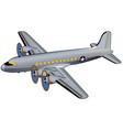 world war ii american transport airplane vector image vector image