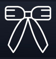 xmas door ribbon icon outline style vector image