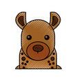 cute cartoon hyena wild animal image vector image