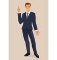 Smiling Businessman vector image