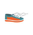 mens shoe in cartoon style vector image