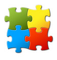 abstract puzzle background vector image