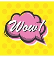Pop art style Wow isolated speech bubble vector image