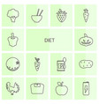 14 diet icons vector image vector image