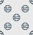 60 second stopwatch icon sign Seamless abstract vector image vector image