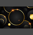 abstract 3d background with layers black paper vector image