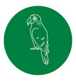 amazon parrot icon in thin line style vector image vector image