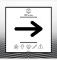 arrow icon symbol vector image vector image