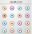 arrows icons set vector image vector image