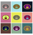 assembly flat icons logo coffee cup vector image vector image