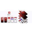 banking app ui kit for responsive mobile app vector image