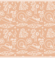 beige summer seamless pattern hat glasses vector image vector image