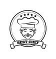 best chef poster sketch text vector image