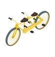 Bicycle tandem icon cartoon style vector image vector image