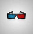 black 3d cinema glasses vector image