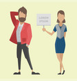 business people man and woman full length of vector image vector image