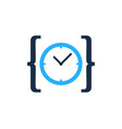 code time logo icon design vector image