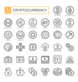 cryptocurrency bitcoin blockchain vector image