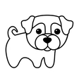 cute dog kawaii style vector image vector image