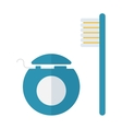 Dental care symbols vector image vector image