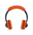 drawing orange headphones music listen mobile vector image