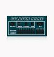 electronic baseball scoreboard with blank home vector image