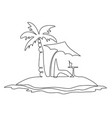 exotic lonely island vector image vector image