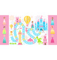 fairy princess board game vector image vector image