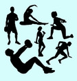 fitness and gymnastic teenager people sport silhou vector image vector image