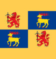 flag of kalmar county is a county in southern vector image vector image