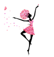 Flower girl ballerina vector | Price: 1 Credit (USD $1)