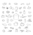 Food doodle icons set vector image vector image
