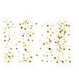 gold stars confetti celebration falling golden vector image vector image