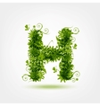 Green eco letter H for your design vector image vector image