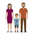 happy young family standing together father and vector image vector image