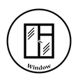 Icon of closed window frame vector image vector image