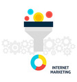 Internet Marketing Flat Concept vector image