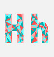 letter hlow poly alphabetgeometric styleabstrac vector image vector image